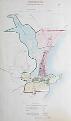 Weymouth antique town plan