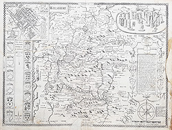 John Speed map od Wiltshire 1623
