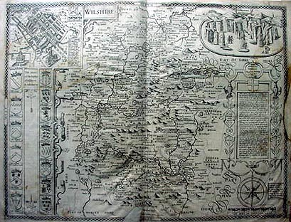 Antique map of Wiltshire by John Speed