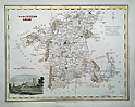 Worcestershire county map by Fullarton dated 1833