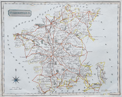 Neele antique map of  Worcestershire for sale