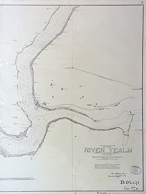 River Yealm vintage Admiralty Chart