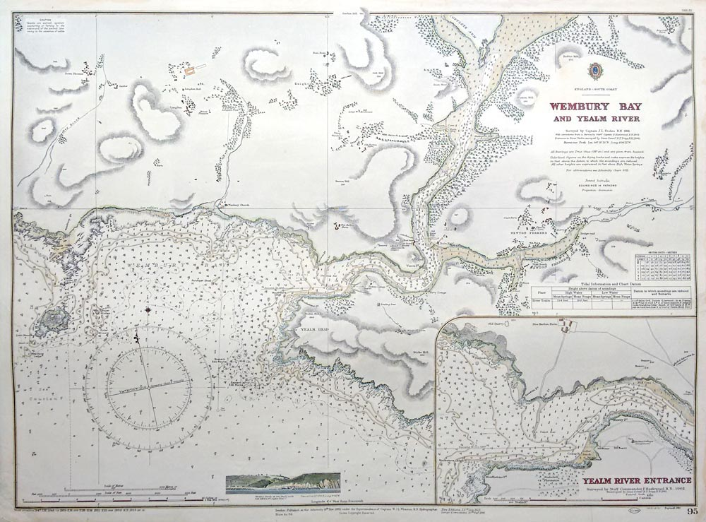 Wembury Bay and River Yealm Admiralty Chart