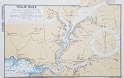 Yealm River Wartime nautical chart