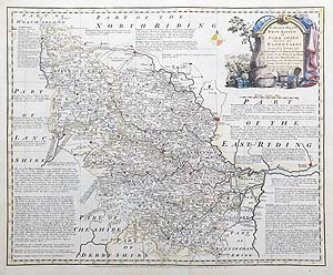 Yorkshire West Riding antique map for sale Emanuel Bowen